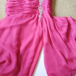 Jovani Dresses - Jovani Fuchsia Sequin Mermaid Prom Dress